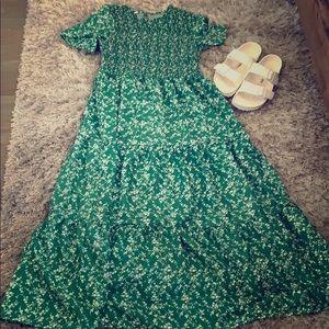 Green floral dress nwot